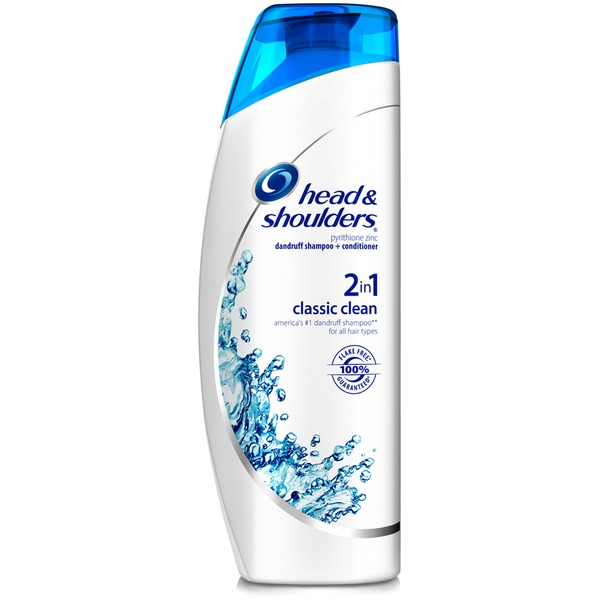 Head & Shoulders Classic Clean Head and Shoulders Classic Clean 2-in-1 Anti-Dandruff Shampoo + Conditioner 23.7 Fl Oz Female Hair Care