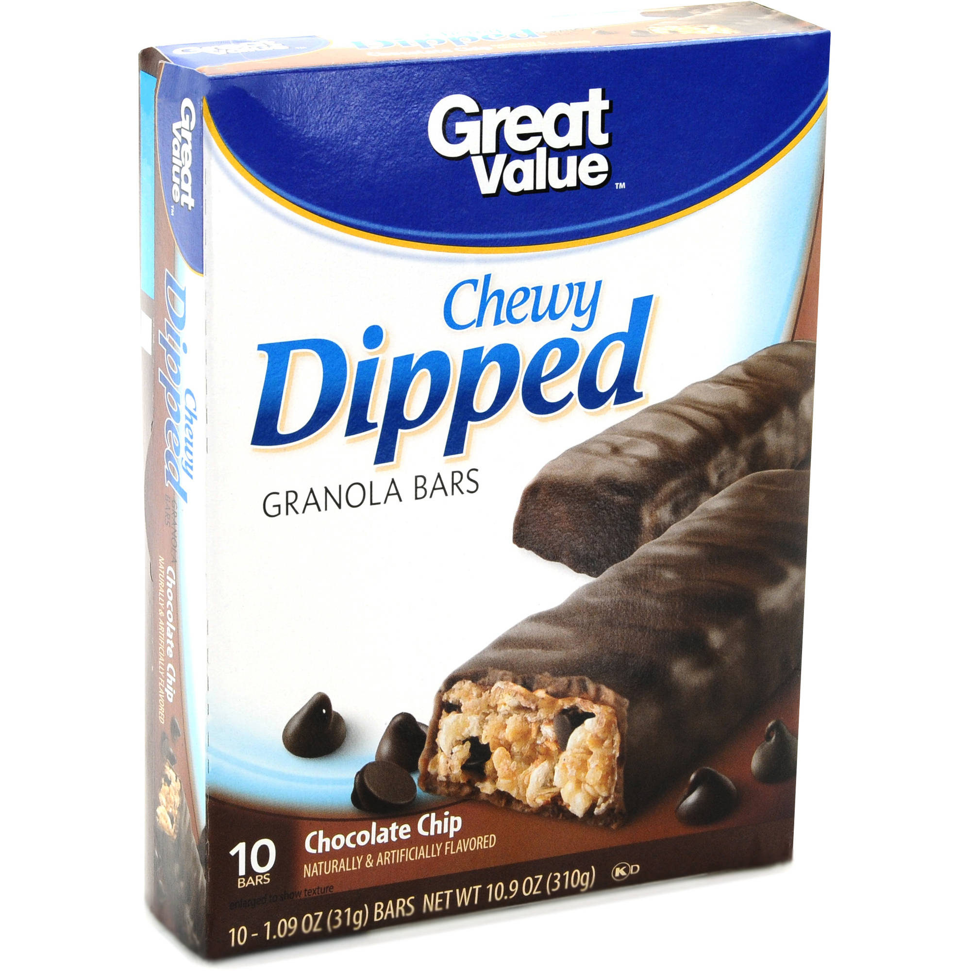 Great Value Chewy Dipped Chocolate Chip Granola Bars
