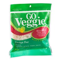 Go Veggie! Mozzarella Flavor Shreds Pasteurized Process Cheese Food Alternative