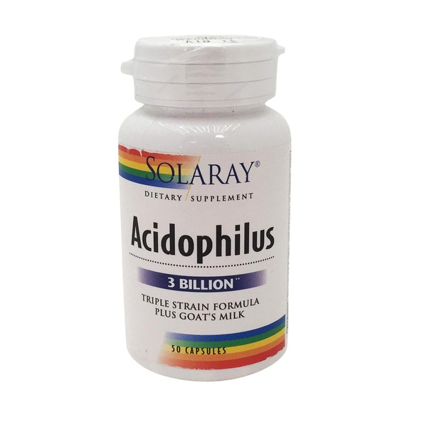 Solaray Acidophilus 3 Billion Triple strain  Plus Goat's Milk Capsules