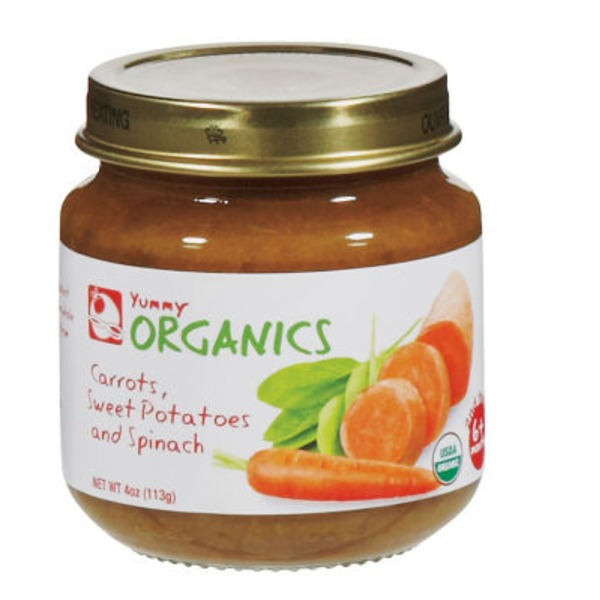 Yummy Organics 2nd Foods Carrots Sweet Potatoes Spinach Baby Food