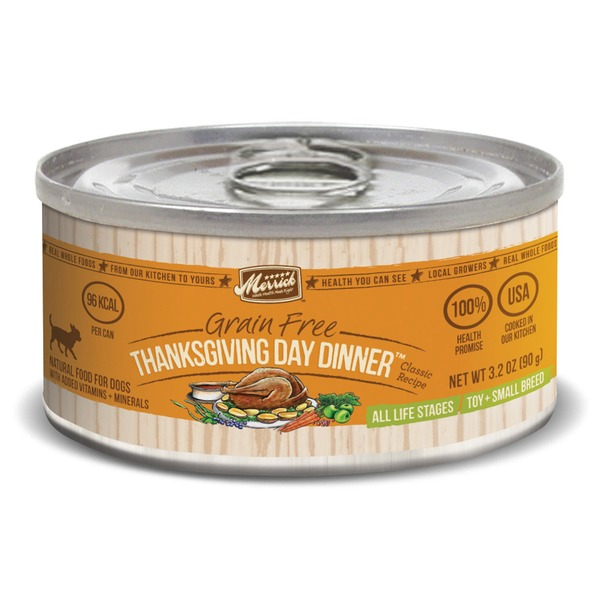 Merrick Classic Grain Free Small Breed Thanksgiving Day Dinner Canned Dog Food