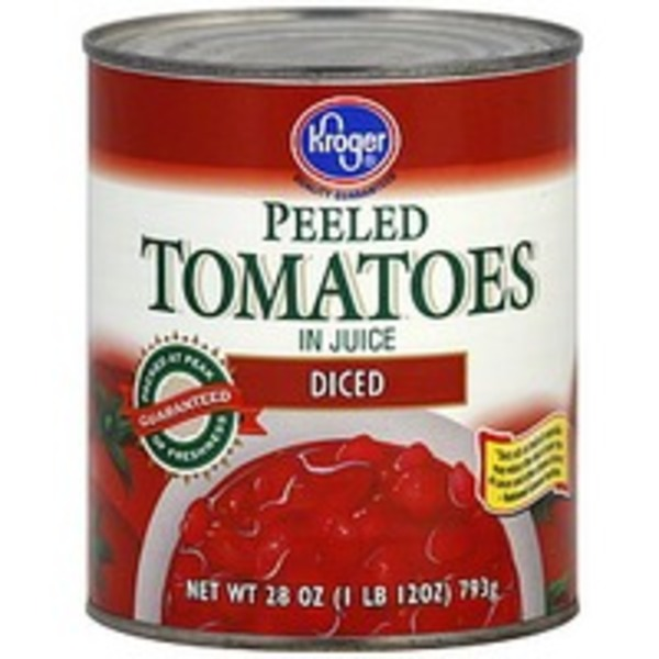 Kroger Diced Peeled Tomatoes
