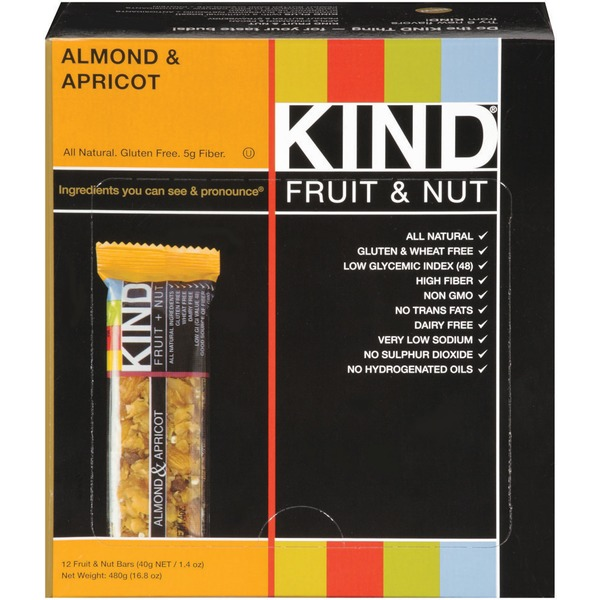 KIND Almond & Apricot 1.4 oz Fruit & Nut Bars