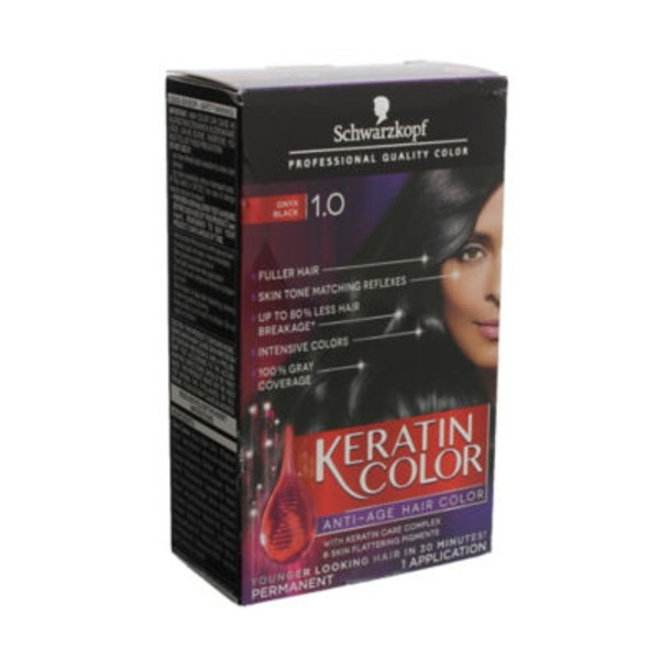 Keratin Color Anti-Age 1.0 Onyx Black Hair Color