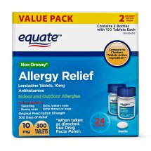 Equate Allergy Relief, Loratadine, 24 Hour Relief, 10 mg, 300 tablets