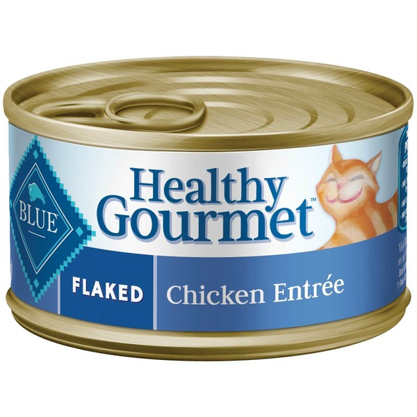Blue Buffalo Cat Food, Moist, Healthy Gourmet, Flaked, Chicken Entree, Can