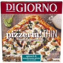 Digiorno PIZZERIA! Thin Crust Spinach & Mushroom Pizza 18 oz. Box