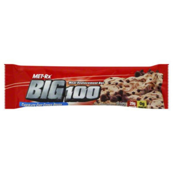 Met Rx Big 100 Chocolate Chip Cookie Dough Meal Replacement Bar