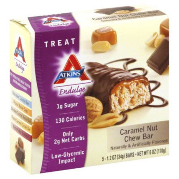 Atkins Endulge Caramel Nut Chew Treat Bars