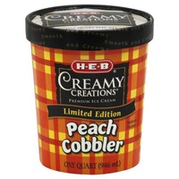 H-E-B Creamy Creations Peach Cobbler Limited Edition Ice Cream