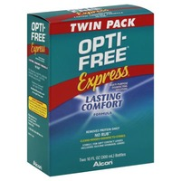 Opti-Free Express Multi-Purpose Disinfecting Contact Solution Lasting Comfort Formula Twin Pack - 2 CT