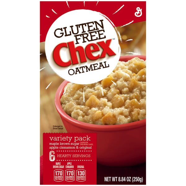 Chex Gluten Free Variety Pack Maple Brown Sugar/Apple Cinnamon/Original Oatmeal