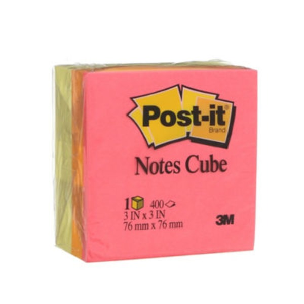 Post It Notes Cube Canary Wave