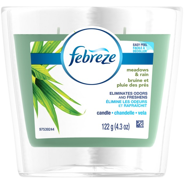 Febreze Candle Febreze CANDLE Air Freshener Meadows & Rain (1 Count, 4.3 oz) Air Care