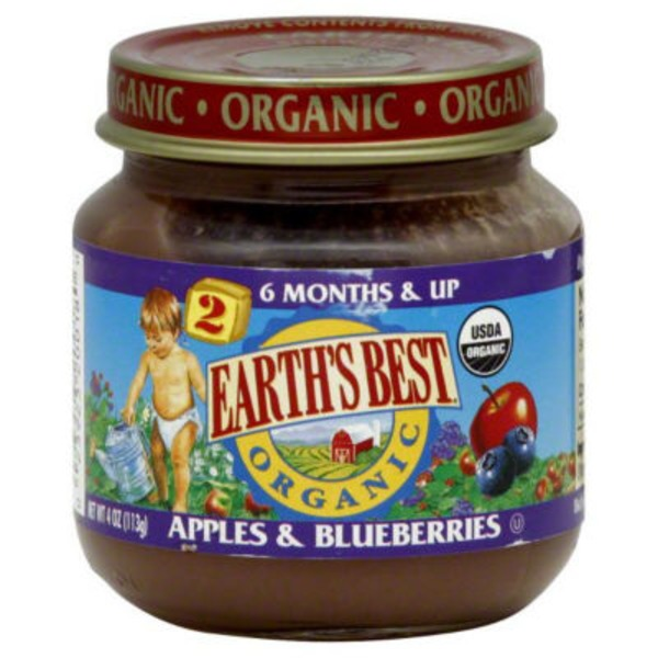Earth's Best Organic Stage 2 Apples & Blueberries