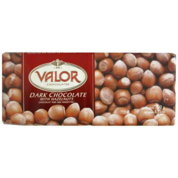Valor Chocolate Dark Chocolate Hazelnut Bar