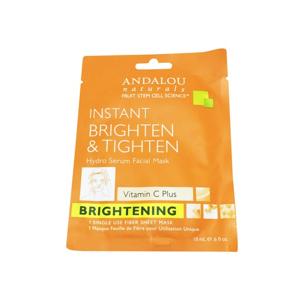 Andalou Naturals Instant Brighten & Tighten Hydro Serum Facial Mask
