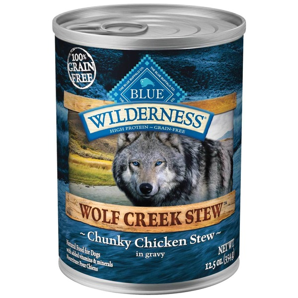 Blue Buffalo Food for Dogs, Natural, Wolf Creek Stew, Chunky Chicken Stew in Gravy