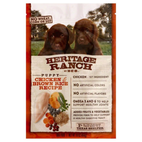 H-E-B Heritage Ranch Puppy Dry Dog Food