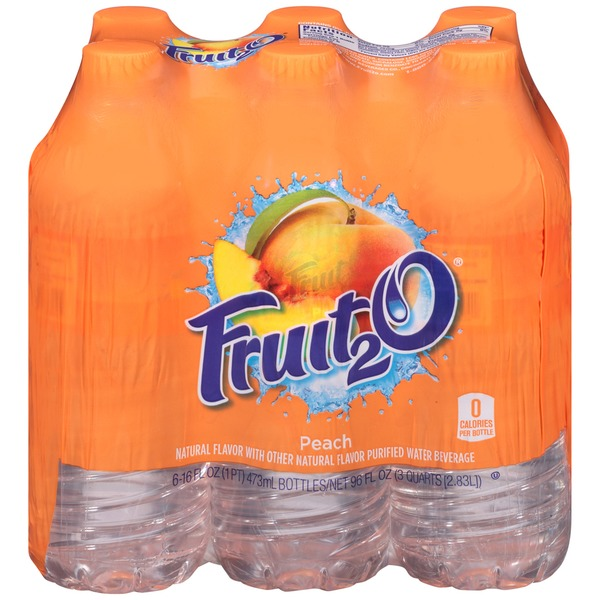 Fruit 2 O Peach Purified Water Beverage