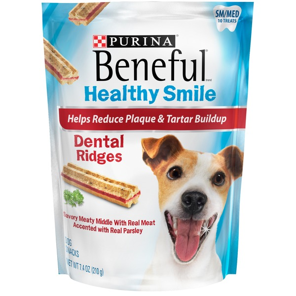 Beneful Treats Healthy Smile Ridges Sm/Med Dental Dog Snacks