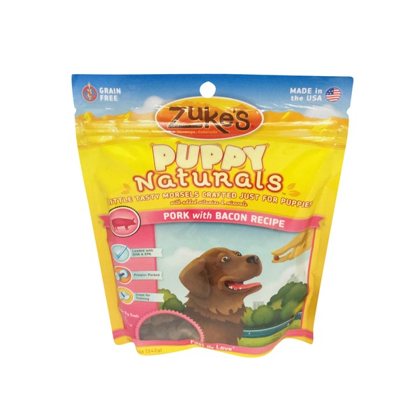 Zuke's Puppy Naturals Pork With Bacon Dog Treats