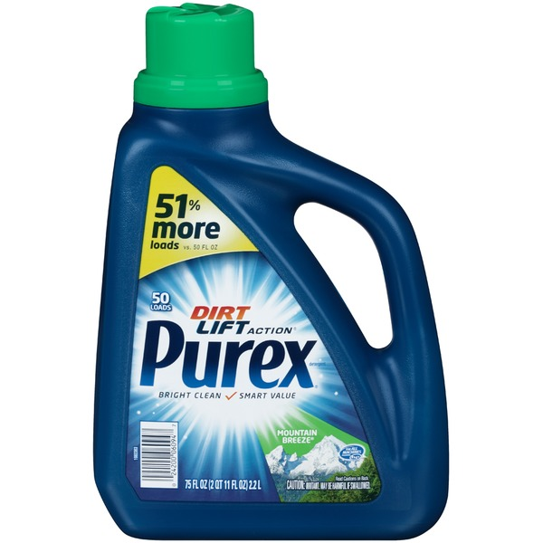 Purex Liquid Detergents Dirt Lift Action Mountain Breeze Laundry Detergent