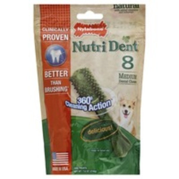 Nylabone Medium Edible Dental Chew Dog Treats