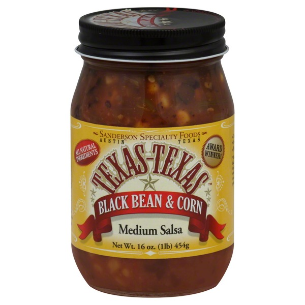 Texas-Texas Salsa, Black Bean & Corn, Medium