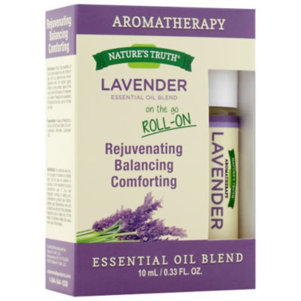 Nature's Truth Organic Aromatherapy On The Go Roll-On Lavender Essential Oil Blend