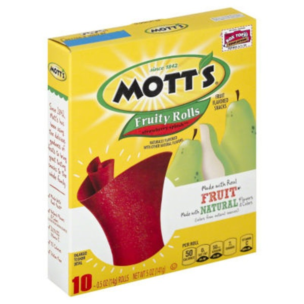 Mott's Fruity Rolls Strawberry Splash Fruit Flavored Snacks