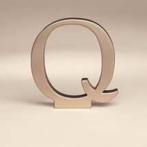 Bakery Crafts Monogram Q Wedding Topper