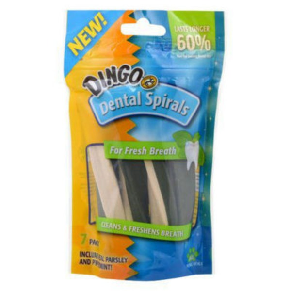 Dingo Dental Spirals For All Dogs Parsley And Peppermint - 7 CT