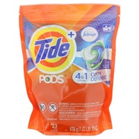 Tide PODS Plus Febreze Odor Defense Laundry Detergent Pacs, Active Fresh Scent, 23 loads, Designed For Regular and HE Washers Laundry