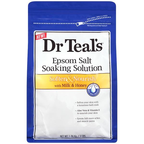 Dr. Teal's Soften & Nourish with Milk & Honey Epsom Salt