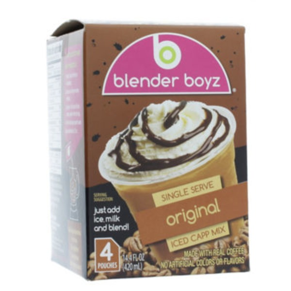 Blender Boyz Single Serve Original Iced Cappuccino Mix Pouches