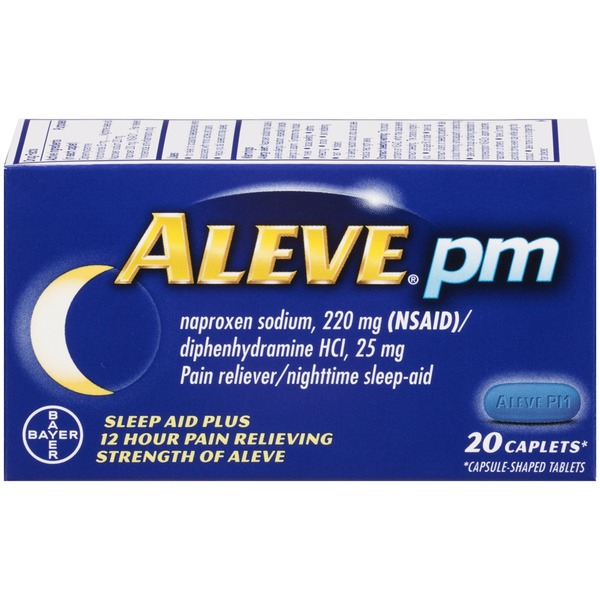 Aleve PM Caplets Pain Reliever/Nighttime Sleep-Aid