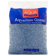 Aqua Culture Dark Blue Chips Aquarium Gravel, 5 lbs