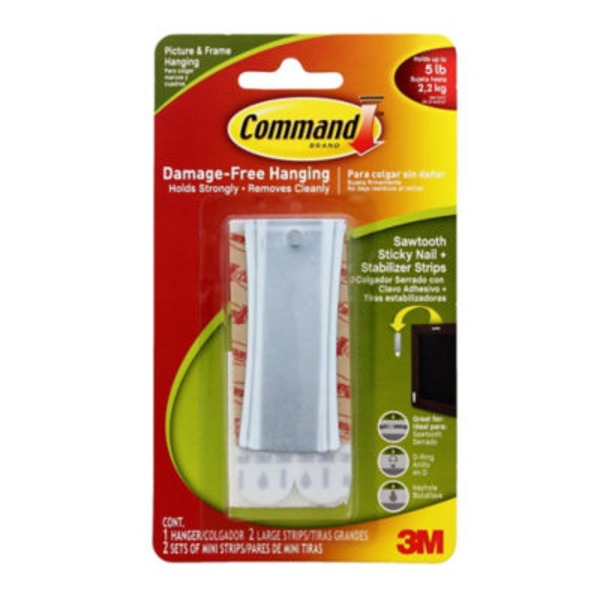 3M Command Sawtooth Sticky Nail Hanger