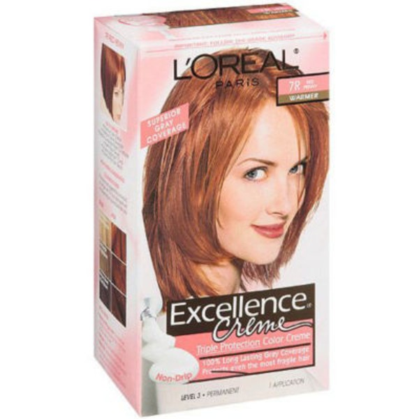Excellence Creme Triple Protection Red Penny Warmer 7R Hair Color