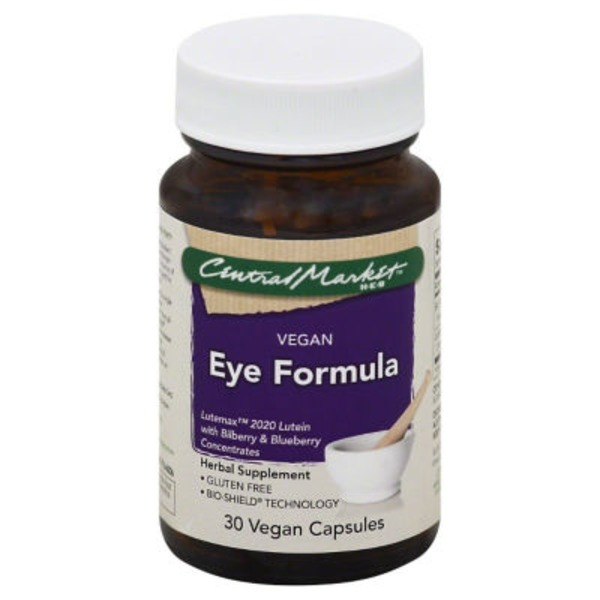 Central Market Vegan Gluten Free Eye Formula Herbal Supplement