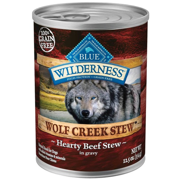 Blue Buffalo Food for Dogs, Natural, Wolf Creek Stew, Hearty Beef Stew in Gravy