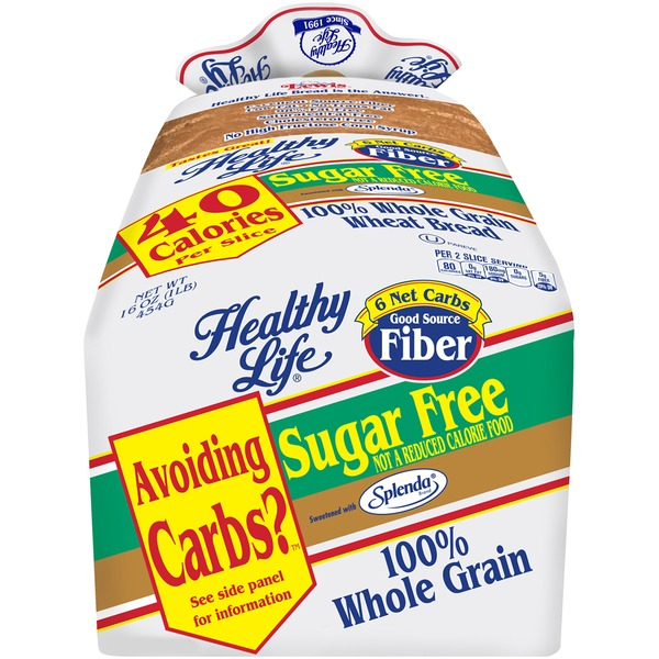 Healthy Life Sugar Free 100% Whole Grain Wheat Bread