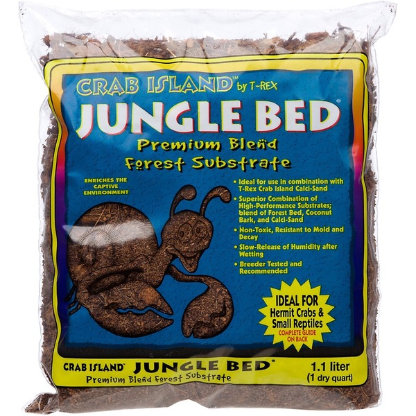 T-Rex Crab Island Jungle Bed Premium Blend Forest Substrate