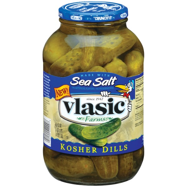 Vlasic Kosher Dills Made W/Sea Salt Pickles
