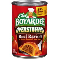 Chef Boyardee Overstuffed in Hearty Tomato & Meat Sauce Beef Ravioli