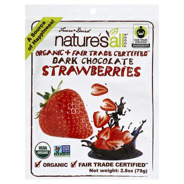 Nature's All Foods Organic + Fair Trade Certified Dark Chocolate Strawberries
