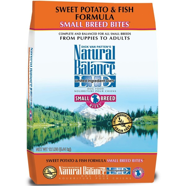 Natural Balance Sweet Potato & Fish Formula Limited Ingredient Diet Small Breed Bites Dog Food