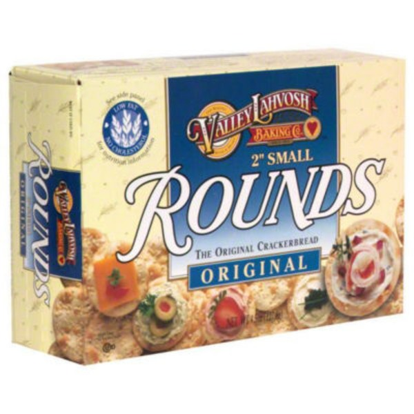 Valley Lahvosh Two-Inch Small Rounds Original Crackerbread